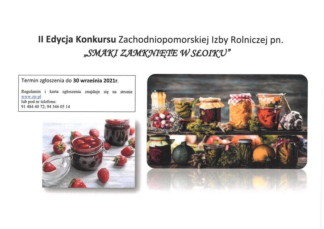 """II edycja konkursu """"SMAKI ZAMKNIĘTE WSŁOIKU"""""""